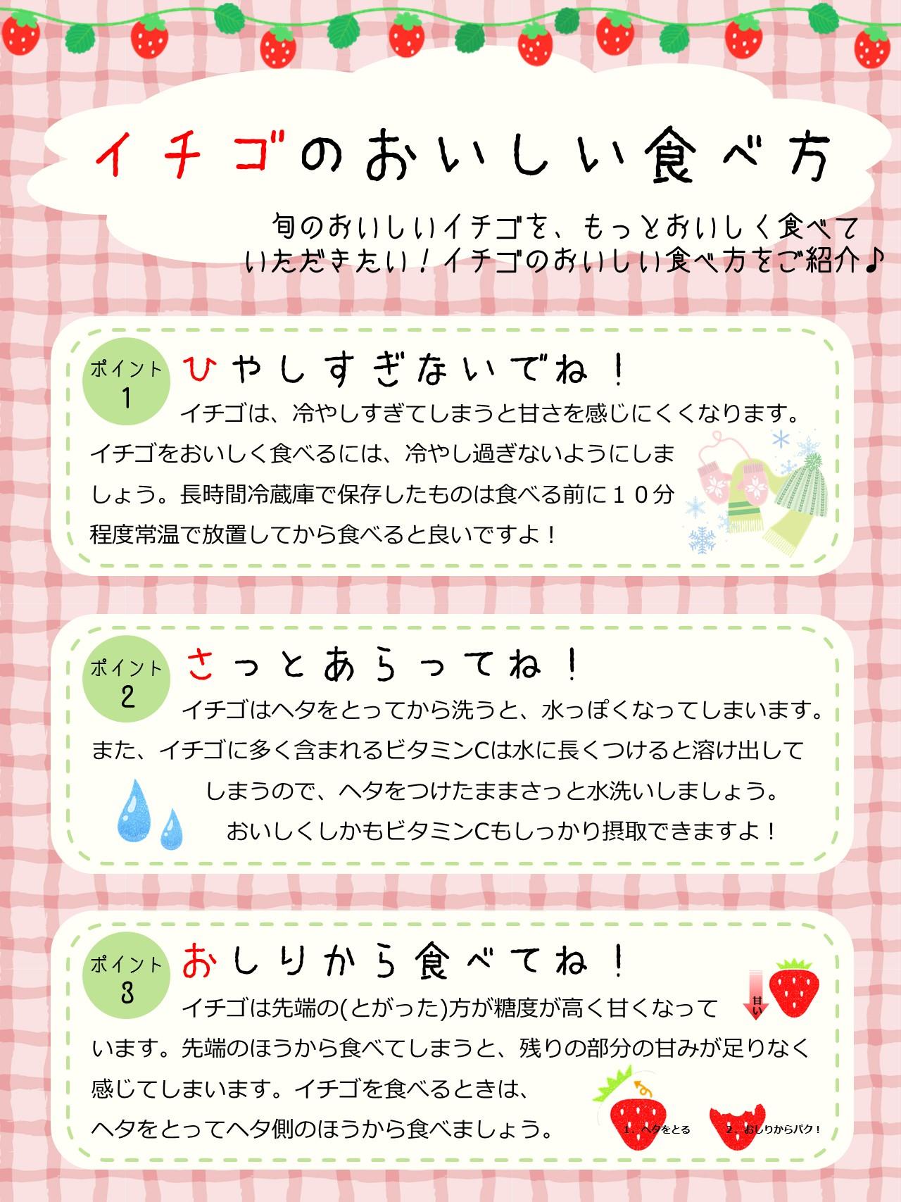 イチゴの食べ方